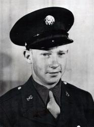 This World War II-era photo provided by Heritage Funeral Home of Spokane shows veteran Delbert Belton.