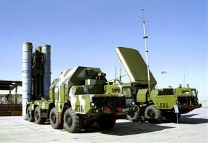In this undated photo, a Russian S-300 anti-aircraft missile system is on display.