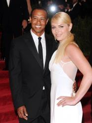 Golfer Tiger Woods and skier Lindsey Vonn attend The Metropolitan Museum of Art's Costume Institute benefit celebrating PUNK: Chaos to Couture on Monday May 6, 2013 in New York.