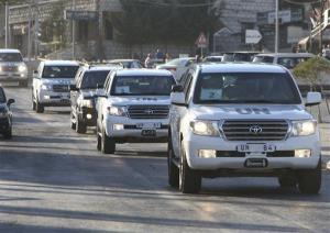 A convoy of U.N. experts crosses into Lebanon Saturday. UN investigators have left Syria.