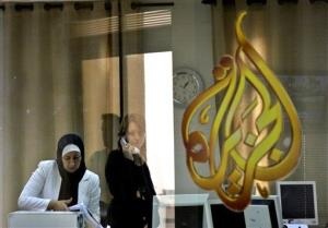 Employees of the Arab news station Al-Jazeera.
