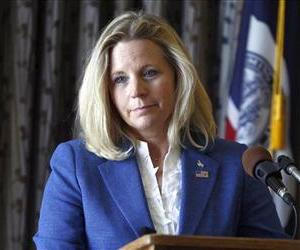 Liz Cheney speaks during a campaign appearance in Casper, Wyo, in this Wednesday, July 17, 2013 file photo.