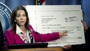 Miami-Dade's State Attorney used a billing statement from Steve Bateman, the Mayor of Homestead, as she announced that Bateman had been arrested on corruption charges.