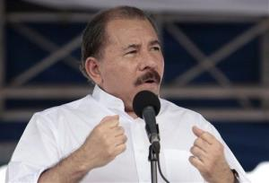 Nicaragua's President Daniel Ortega speaks during a ceremony in Managua, Nicaragua, Friday, July 5, 2013.