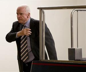 Senate Foreign Relation Committee member Sen. John McCain, R-Ariz., steps from a subway car on Capitol Hill, Sept. 4, 2013.