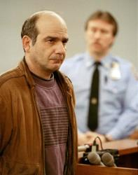 In this Jan. 21, 1993, file photo, John Esposito faces the court during his arraignment in Central Islip, N.Y., on charges he imprisoned 10-year-old Katie Beers in an underground bunker for 17 days.