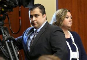 George Zimmerman arrives in Seminole circuit court with his wife, Shellie, on June 24.