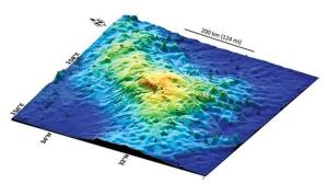 A 3D map of the Tamu Massif formation.