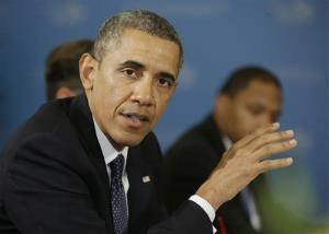 President Obama speaks during his bilateral meeting French President Francois Hollande at the G-20 Summit Friday.
