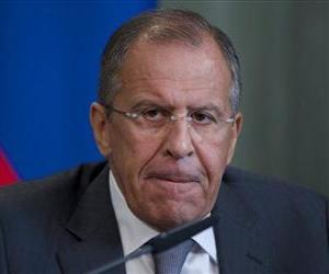 Russian Foreign Minister Sergei Lavrov speaks to the media after his talks with Syrian counterpart Walid al-Mouallem in Moscow on Monday, Sept. 9, 2013.