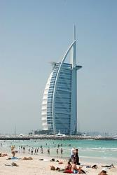 The Burj al Arab hotel in Dubai is the 'most vain' building in the study: About 39% of its height is non-occupiable space.