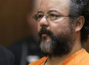 This Aug. 1, 2013 photo shows Ariel Castro in the courtroom during the sentencing phase in Cleveland.