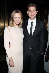 This Jan. 8, 2013 photo released by Starpix shows actress Emily Blunt, left, and her actor husband John Krasinski at the National Board of Review awards gala at Cipriani 42nd Street in New York.