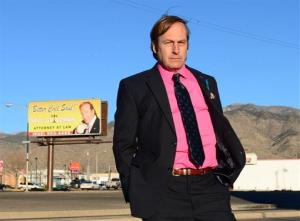 This image released by AMC shows Bob Odenkirk in a scene from 'Breaking Bad.'