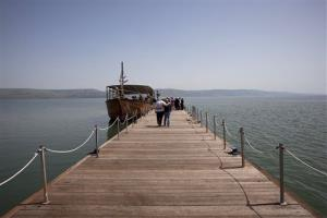 The Sea of Galilee.
