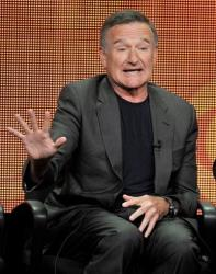 This July 29, 2013 file photo shows Robin Williams participating in The Crazy Ones panel at the CBS Summer TCA in Beverly Hills, Calif.
