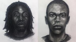 Police released these composite sketches of the suspects.