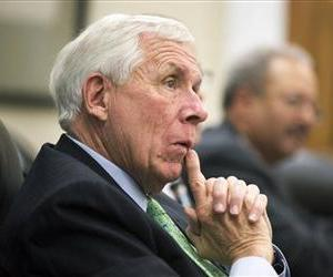 Rep. Frank Wolf, seen here, let an awful lot of silly notions fly at his meeting.