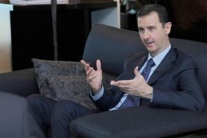 In this Aug. 26 photo, Syrian President Bashar alAssad  speaks during an interview with a Russian newspaper.