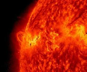 NASA's Solar Dynamics Observatory captured this image of a solar flare on May 14, 2013.
