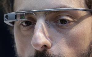 File photo of Google co-founder Sergey Brin with Google Glass.