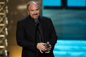 In this April 28, 2012 photo, comedian Louis CK appears onstage at The 2012 Comedy Awards in New York.