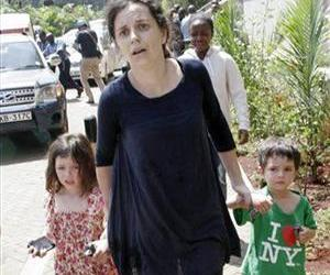 A woman identified as Amber Prior was rescued from Westgate Mall in Nairobi, Kenya, Saturday, Sept. 21, 2013, with her two children.