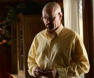 This image provided by AMC shows Bryan Cranston as Walter White in a scene from Breaking Bad.