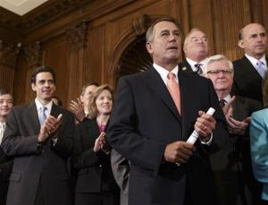 Speaker of the House John Boehner, R-Ohio, is cheered, Sept. 20, 2013.