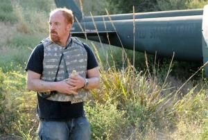 In this image released by FX, Louis CK is shown in a scene from Louie, which aired Thursday, Aug. 25, 2011.