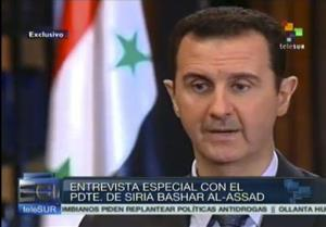 This frame grab shows Syria President Bashar al-Assad.