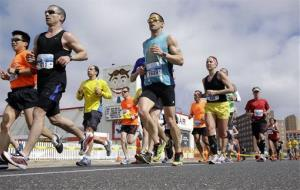 New Jersey Marathon runners race in Asbury Park, NJ, Sunday, May 5, 2013.
