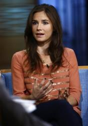 This image released by NBC shows Amanda Knox during an interview on the Today show, Friday, Sept. 20, 2013 in New York.