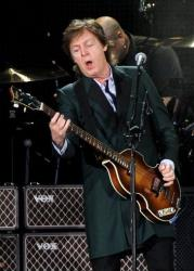 Paul McCartney performs at Fenway Park on Tuesday, July 9, 2013 in Boston.