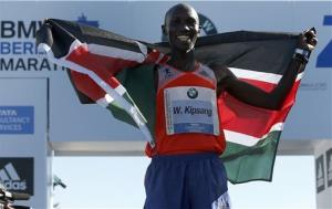 Wilson Kipsang, from Kenya, was the actual winner.