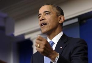 President Obama speaks at the White House on Sept. 30.