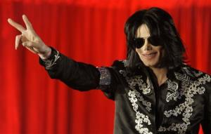 In this March 5, 2009, photo, Michael Jackson announces that he is set to play 10 concerts at the London O2 Arena.