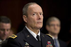 National Security Agency Director Gen. Keith Alexander pauses while testifying on Capitol Hill in Washington yesterday.