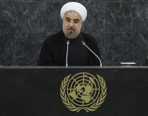 Iranian President Hassan Rouhani addresses the 68th session of the United Nations General Assembly in this file photo.