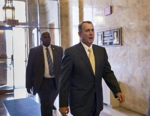 House Speaker John Boehner arrives on Capitol Hill Thursday.