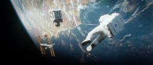 This film image released by Warner Bros. Pictures shows a scene from Gravity.