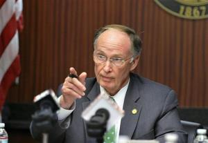 Alabama Governor Robert Bentley attends a meeting on Friday, Dec. 21, 2012, in Montgomery, Ala.