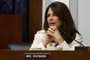 In this July 17, 2013 file photo, Rep. Michele Bachmann, R-Minn. takes part in a hearing on Capitol Hill in Washington.