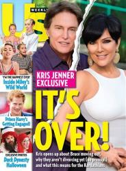 This cover image released by US Weekly shows the exclusive announcement about the break-up of celebrity couple Bruce Jenner and Kris Jenner.  The couple confirmed they've split and have been separated for a year.