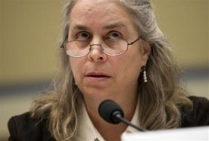 Sarah Hall Ingram, director of the Affordable Care Act Office at the Internal Revenue Service (IRS) , testifies on Capitol Hill Wednesday.