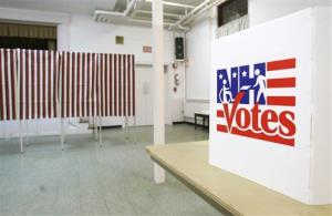 File photo of voting booths on Election Day.