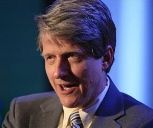 In this Monday, June 15, 2009, file photo, Robert Shiller, a professor of economics at Yale, participates in a panel discussion at Time Warner's headquarters in New York.