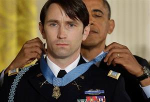 President Obama awards the Medal of Honor to former Army Capt. William D. Swenson of Seattle.