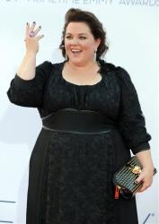 Actress Melissa McCarthy arrives at the 64th Primetime Emmy Awards at the Nokia Theatre on Sunday, Sept. 23, 2012, in Los Angeles.