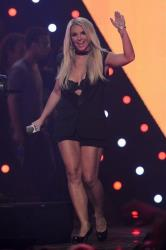 Britney Spears introduces Miley Cyrus at IHeartRadio Music Festival, day 2, Saturday, Sept. 21, 2013 in Las Vegas, NV.